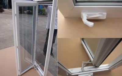 Reparación de una manivela de ventanas PVC